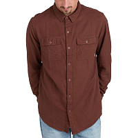 Billabong ALL DAY Flannel LS S RUST BROWN