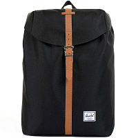 Herschel POST MID-VOLUME Black/Tan Synthetic Leather
