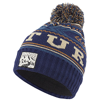 Picture organic DONNIE BEANIE PETROL BLUE