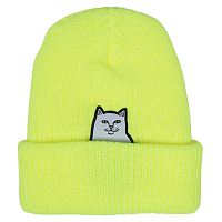 RIPNDIP LORD NERMAL RIB BEANIE SAFERTY YELLOW