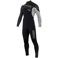 Mystic DRIP FULLSUIT 5/4MM FZIP Black/Grey
