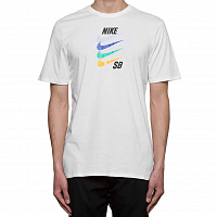 Nike M NK SB TEE FUTURA WHITE/SAFETY ORANGE