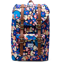 Herschel Little America Mid-Volume Painted Floral/Tan Synthetic Leather