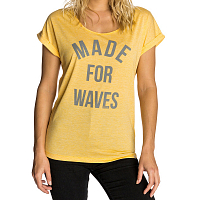 Rip Curl VAPOR COOL MADE FOR WAVES TEE BEESWAX
