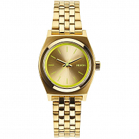 Nixon Small Time Teller GOLD/NEON YELLOW