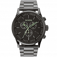Nixon Sentry Chrono POLISHED GUNMETAL/LUM