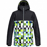 Quiksilver SIERRA JK M SNJT LIME GREEN_CHECK ATOMIC