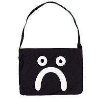 POLAR HAPPY SAD TOTE BAG BLACK