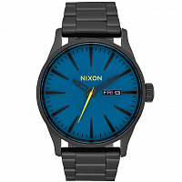 Nixon Sentry SS ALL BLACK / SEAPORT BLUE