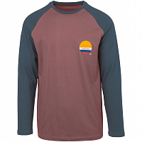 Rip Curl SHORE LINES LS TEE LIGHT RED