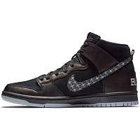 Nike SB ZOOM DUNK HIGH PRO QS BLACK/BLACK-WOLF GREY