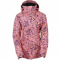 686 WM AUTHNTIC SMARTY CATWALK JKT CORAL ANIMAL PRINT
