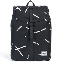 Herschel POST MID-VOLUME BLACK CODE/BLACK SYNTHETIC LEATHER
