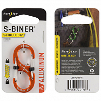 Nite Ize S-BINER SLIDELOCK ALUMINUM 2 ORANGE