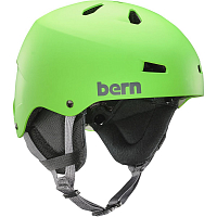Bern TEAM MACON Neon Green w/Black Cordova Earflaps