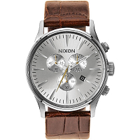 Nixon SENTRY CHRONO LEATHER SADDLE GATOR