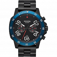 Nixon RANGER CHRONO All Black/Blue