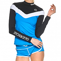 Glidesoul V-STYLE LONG SLEEVE RASHGUARD BLACK/BLUE/WHITE