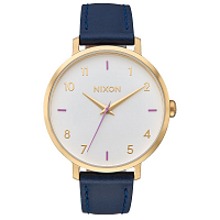 Nixon ARROW LEATHER GRAY / NAVY