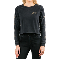 Rusty GOTHIC R LONG SLEEVE CROP TEE BLACK