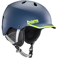 Bern WATTS MEN'S Matte Navy/Hyper Green Trim/Black Liner