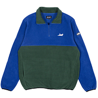 RIPNDIP CASTANZA FLEECE HALF ZIP JACKET NAVY / HUNTER GREEN