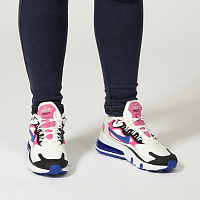Nike W AIR MAX 270 REACT SUMMIT WHITE/HYPER BLUE-COSMIC FUCHSIA