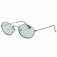 Ray Ban OVAL SILVER/LIGHT BLUE