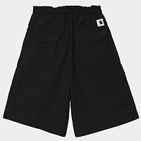 Carhartt WIP W' Denver Short BLACK (STONE WASHED)
