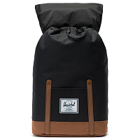 Herschel RETREAT Black/Saddle Brown