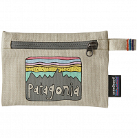 Patagonia SMALL ZIPPERED POUCH FITZ BLEACHED STONE