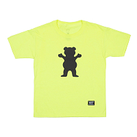 Grizzly YOUTH SAFETY BEAR S/S TEE NEON GREEN