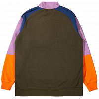 THE HUNDREDS TRAILS HALF ZIP GREEN