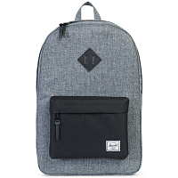 Herschel Heritage RAVEN CROSSHATCH/BLACK/BLACK PEBBLED LEATHER