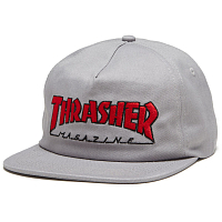 Thrasher OUTLINED SNAPBACK Grey/Red