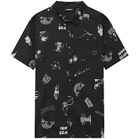 Mystic PARTY SHIRT BLACK/WHITE