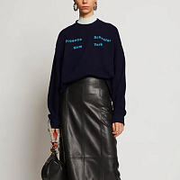 Proenza Schouler White Label Long Sleeve Sweatshirt NAVY