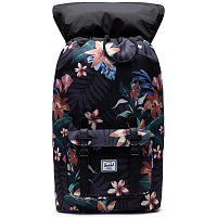 Herschel Little America SUMMER FLORAL BLACK