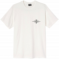 Stussy SKULL WINGS PIG. DYED TEE NATURAL