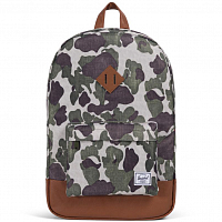 Herschel Heritage Frog Camo/Tan Synthetic Leather