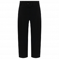 Proenza Schouler White Label Belted Soft Cotton Pant BLACK