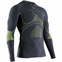 X-Bionic ENERGY ACCUMULATOR 4.0 SHIRT ROUND NECK LG SL MEN CHARCOAL/YELLOW