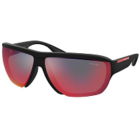 Prada Linea Rossa 0PS 09VS RUBBER BLACK/DARK GREY MIRROR BLUE/RED