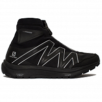 And Wander Reflective Highcut Sneakers BY Salomon BLACK