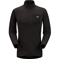 Arcteryx RHO LT ZIP NECK MEN'S BLACK
