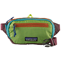 Patagonia ULTRALIGHT BLACK HOLE MINI HIP PACK PATCHWORK: PEPPERGRASS GREEN