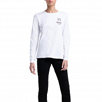 Herschel WOMEN'S LONG SLEEVE TEE BASQUIAT BRIGHT WHITE/RECORD