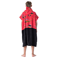 Rip Curl HOPPER PONCHO BOY BRIGHT RED
