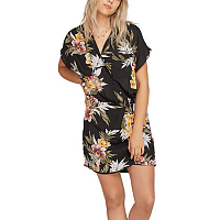 Volcom RAG'N FLOWER DRESS BLACK COMBO