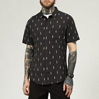 Roark CARVE THE STONE S/S WOVEN blk